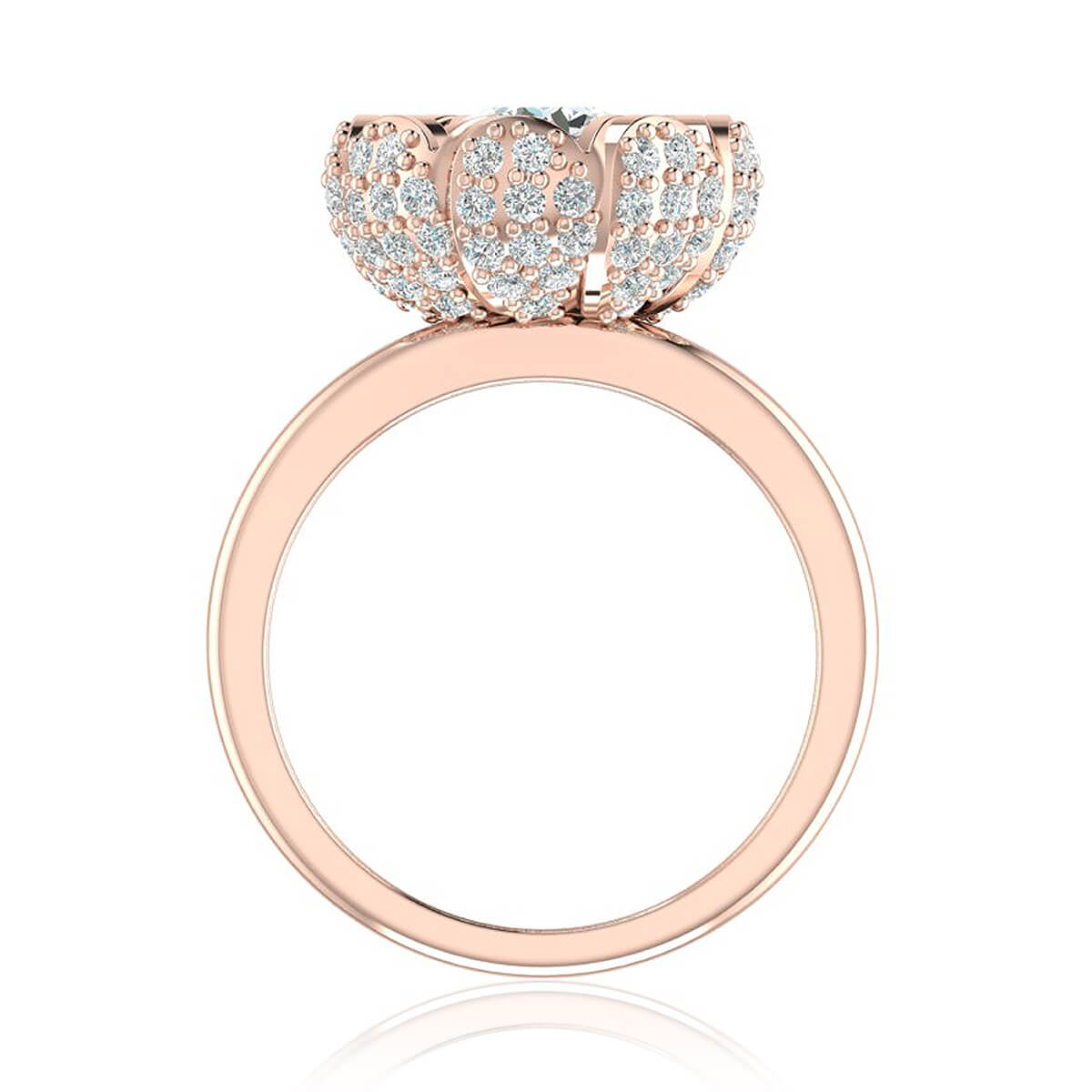 gripoix rings chanel pink gold ring camellia cc pearl