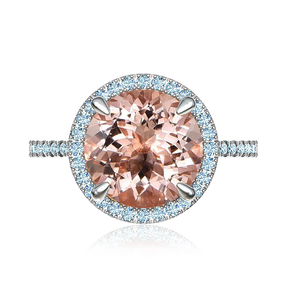 Rosalyn Morganite & Diamond Ring