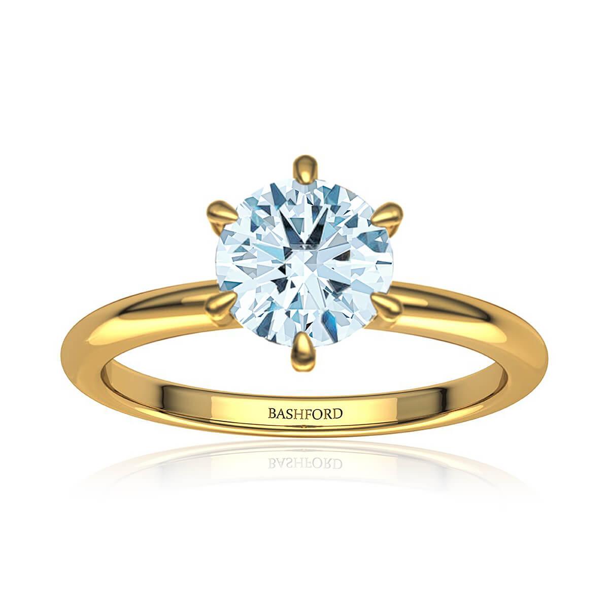 Serendipity Diamond Ring  (with VS2, G,  3/4 Carat Round Diamond)