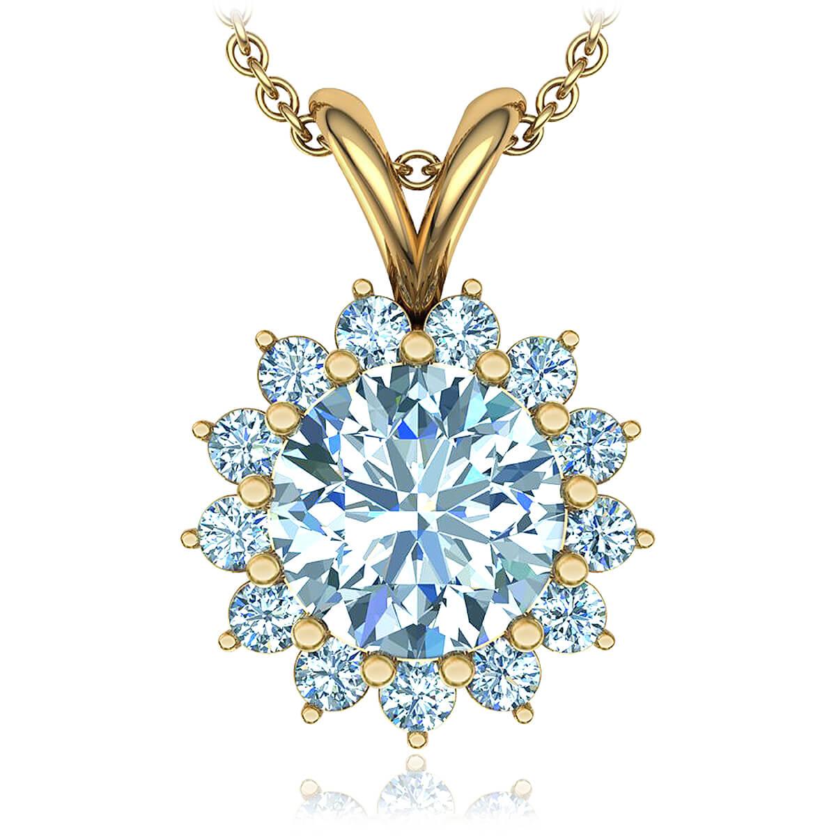 Passion Flower Diamond Necklace (1/2 CT. TW.)