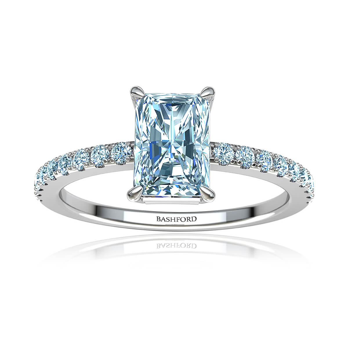 Capricia Diamond Ring (with VS1, F, 3/4 Carat Radiant Diamond)