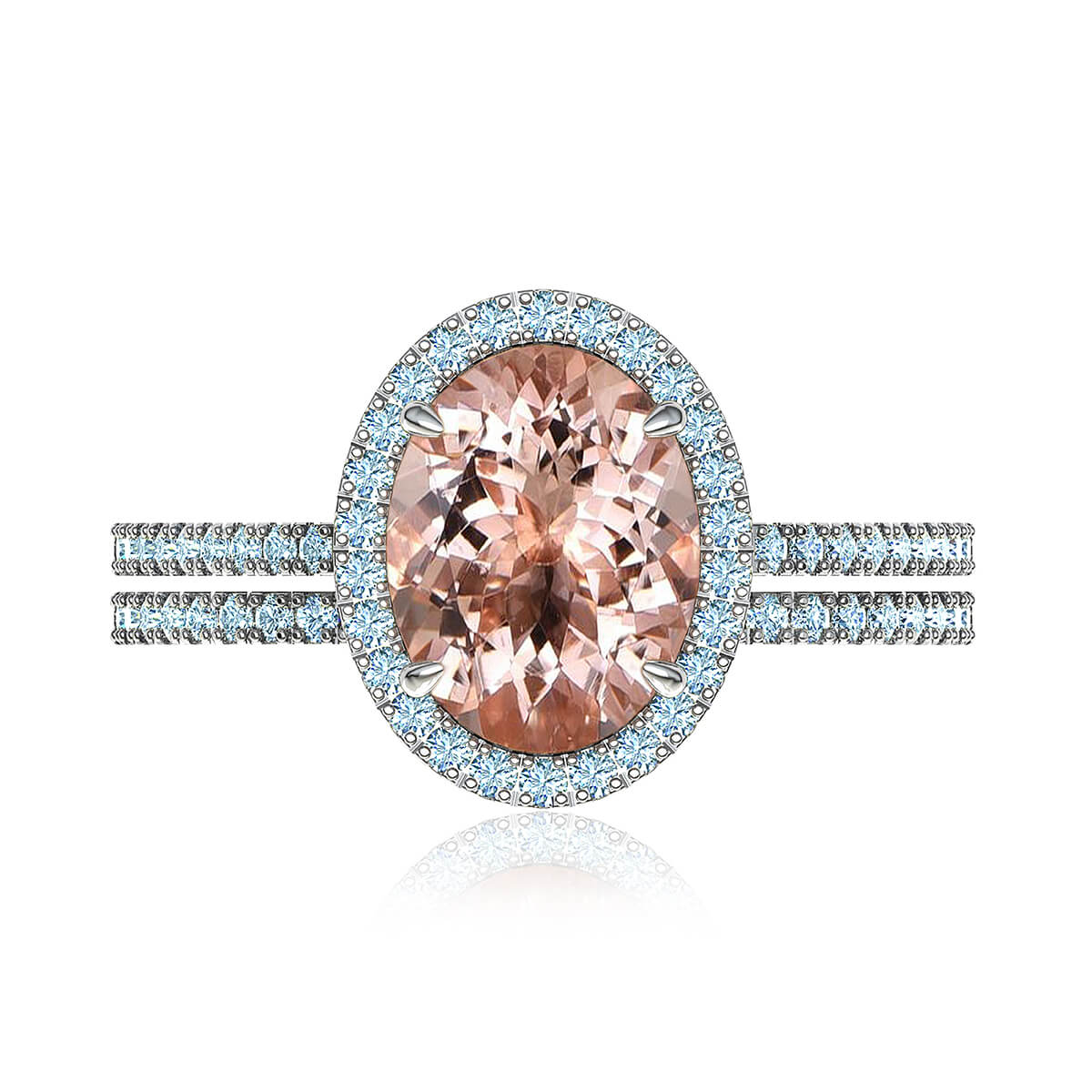 Abigail Morganite & Diamond Matched Set