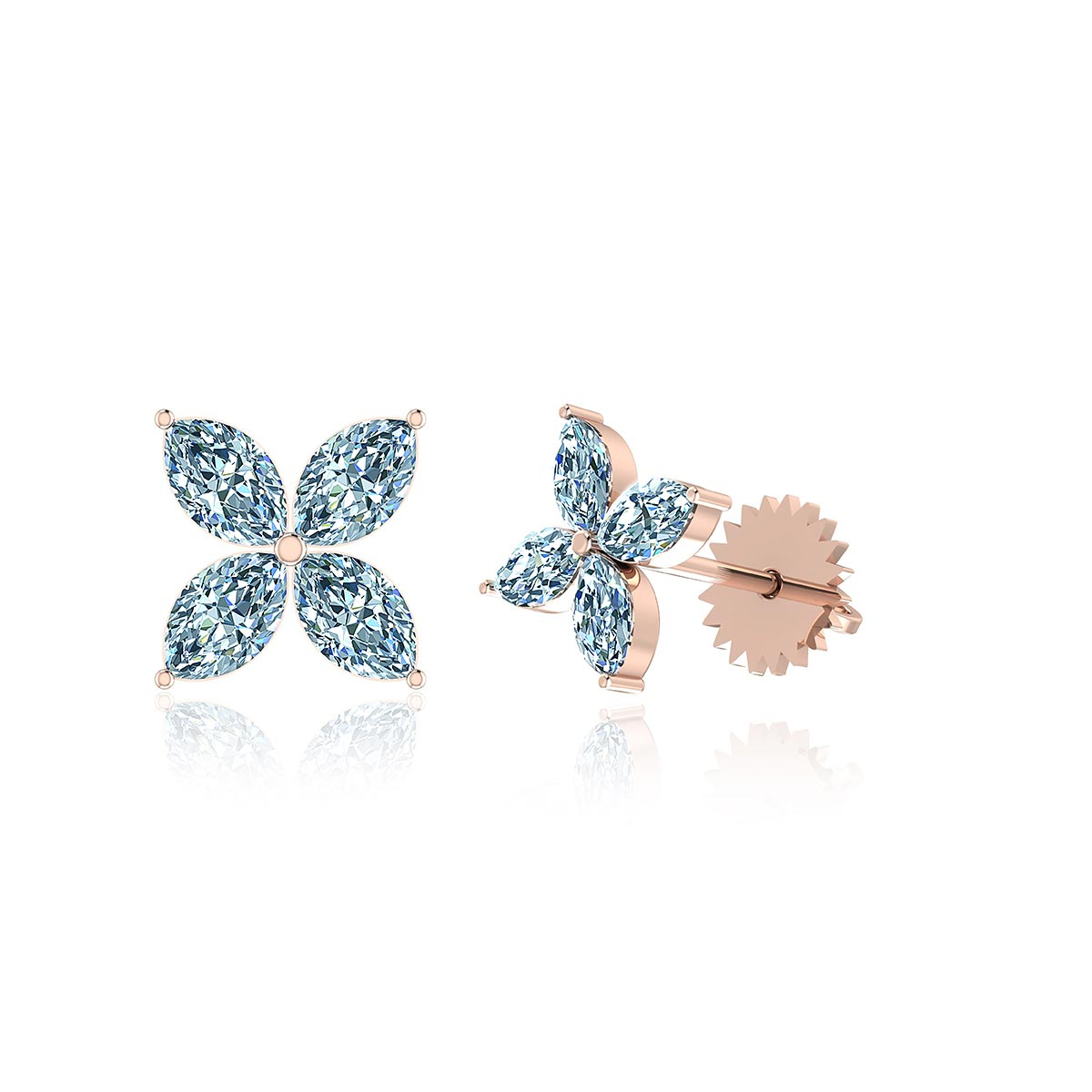 Star Gazer Cluster Diamond Earrings (2 1/2 CT. TW.)