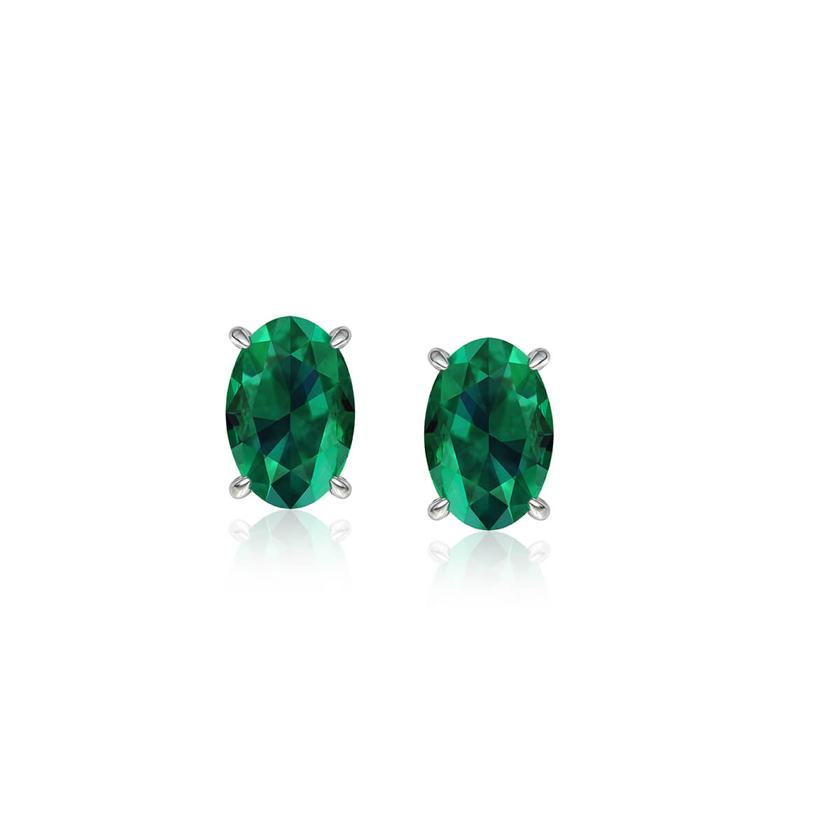 Esmeralda Oval Emerald Earrings