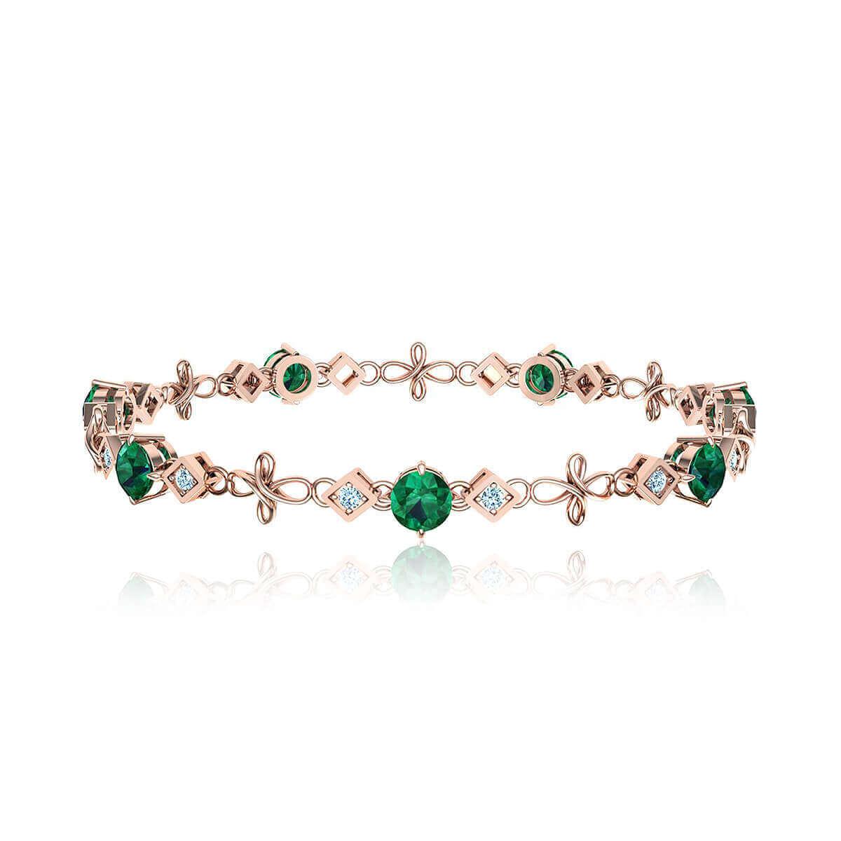 Bashford Lorna Emerald and Diamond Bracelet (1/2 CT. TW.)