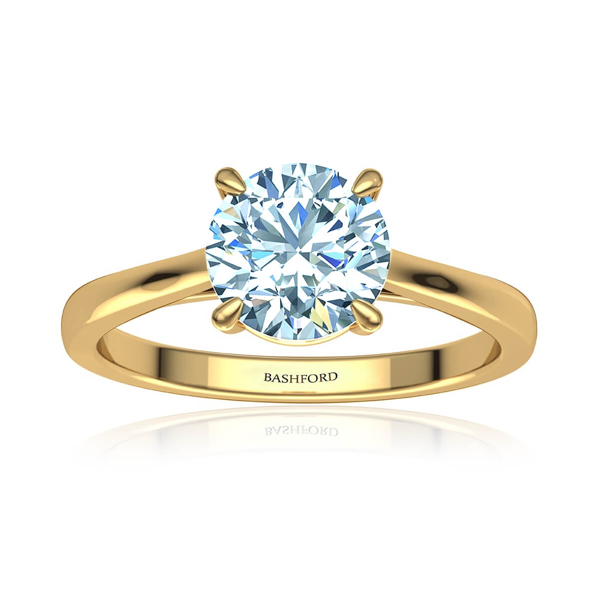 Alya Moissanite Ring (with 1 Carat Round Forever One)