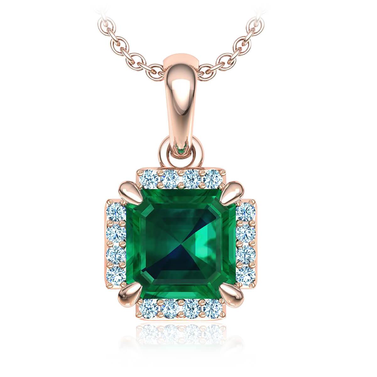Ambrosina Emerald and Diamond Necklace