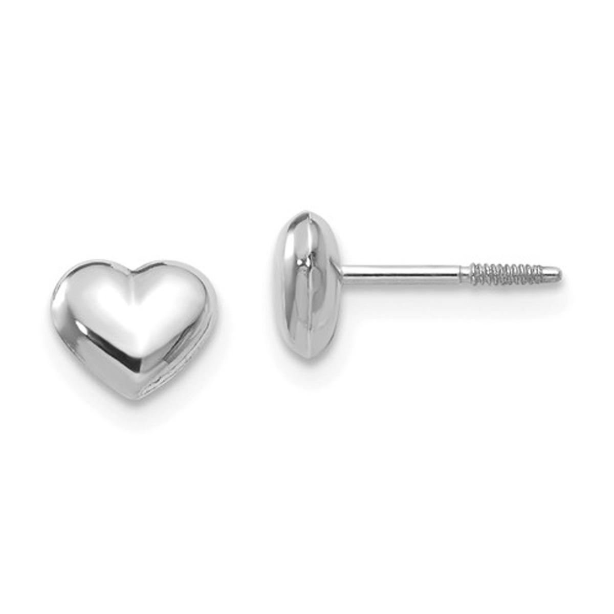 Puff Heart Stud Earrings