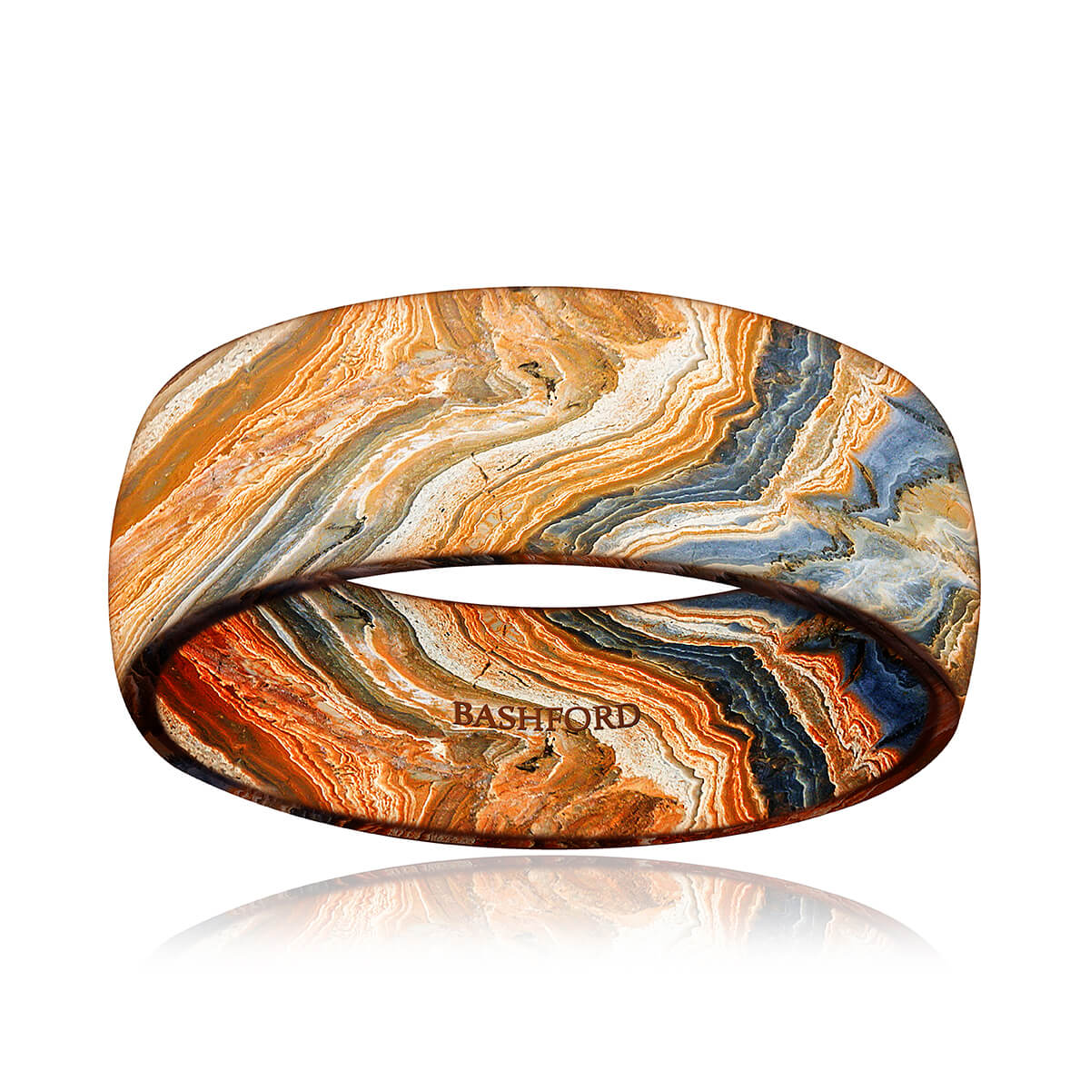 Grand Canyon Mokume Wedding Band (8 mm)
