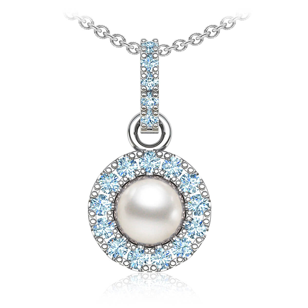 Perla Pearl Diamond Necklace