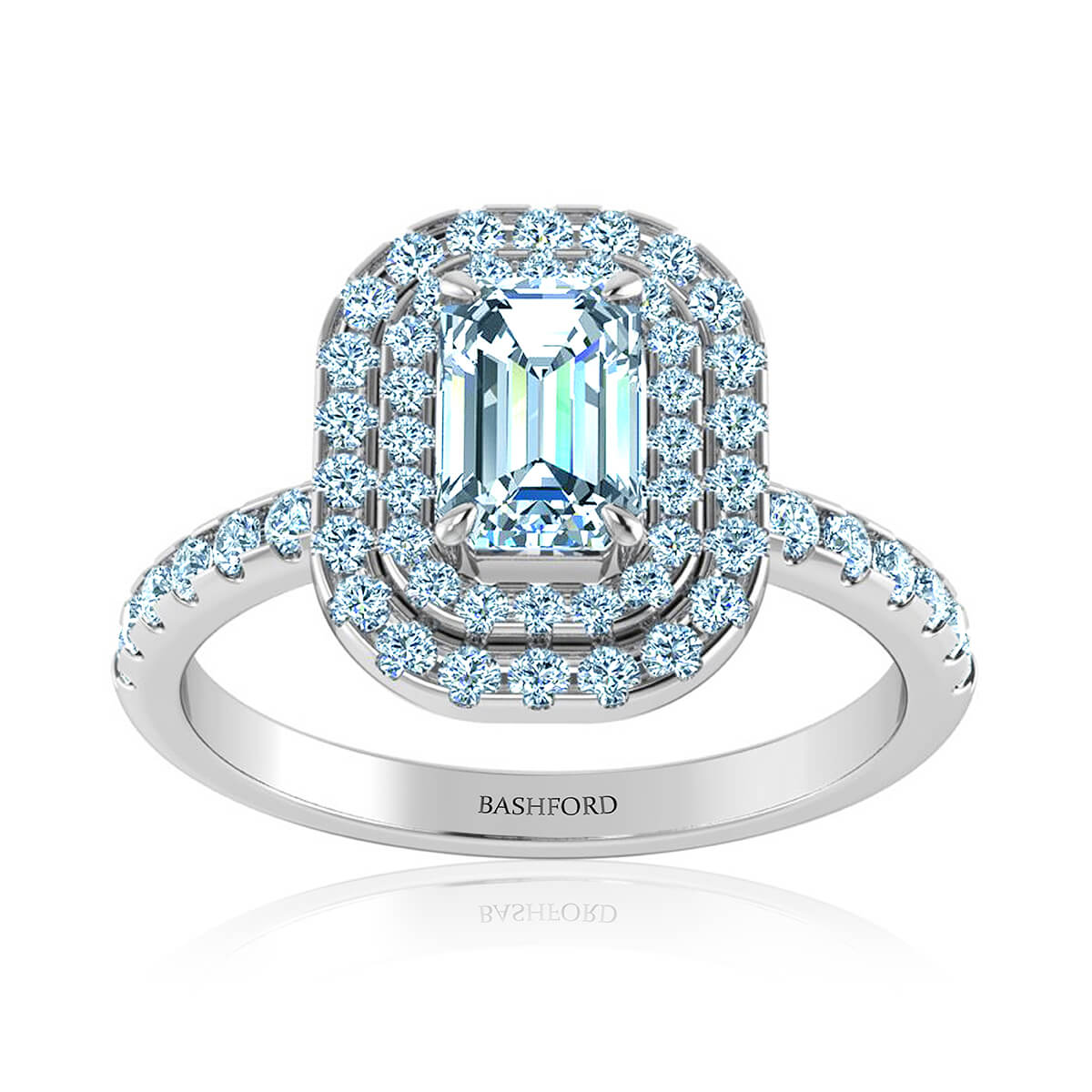 Positano Halo Diamond Ring
