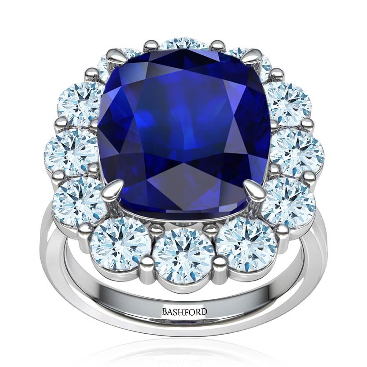 Eugenia Sapphire & Diamond Ring