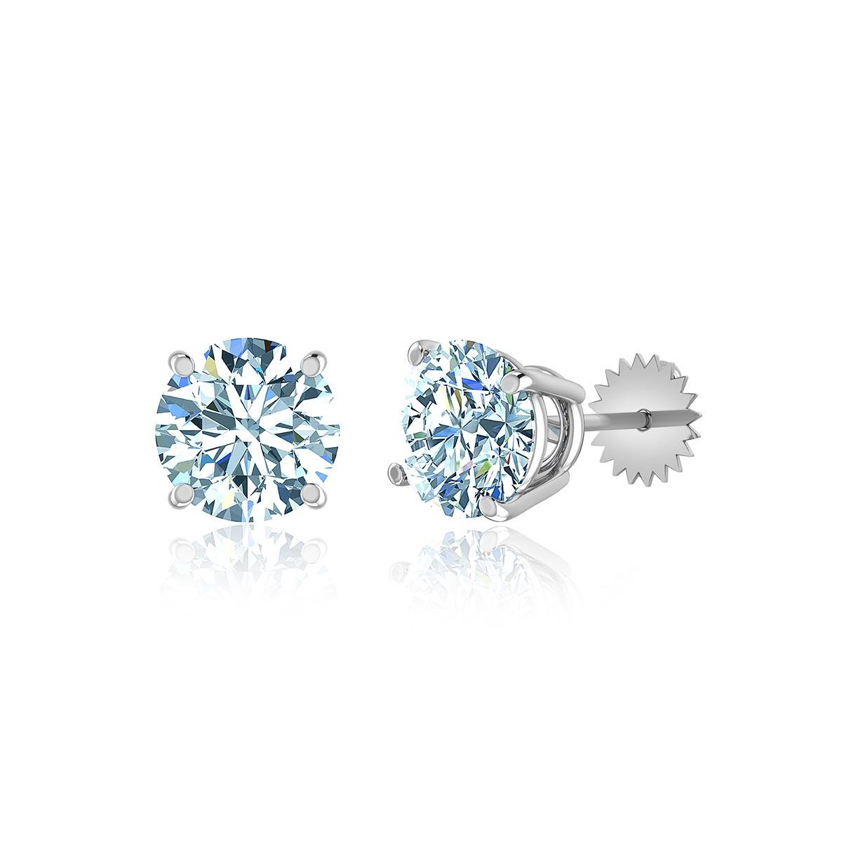 Casa Blanca Diamond Stud Earrings