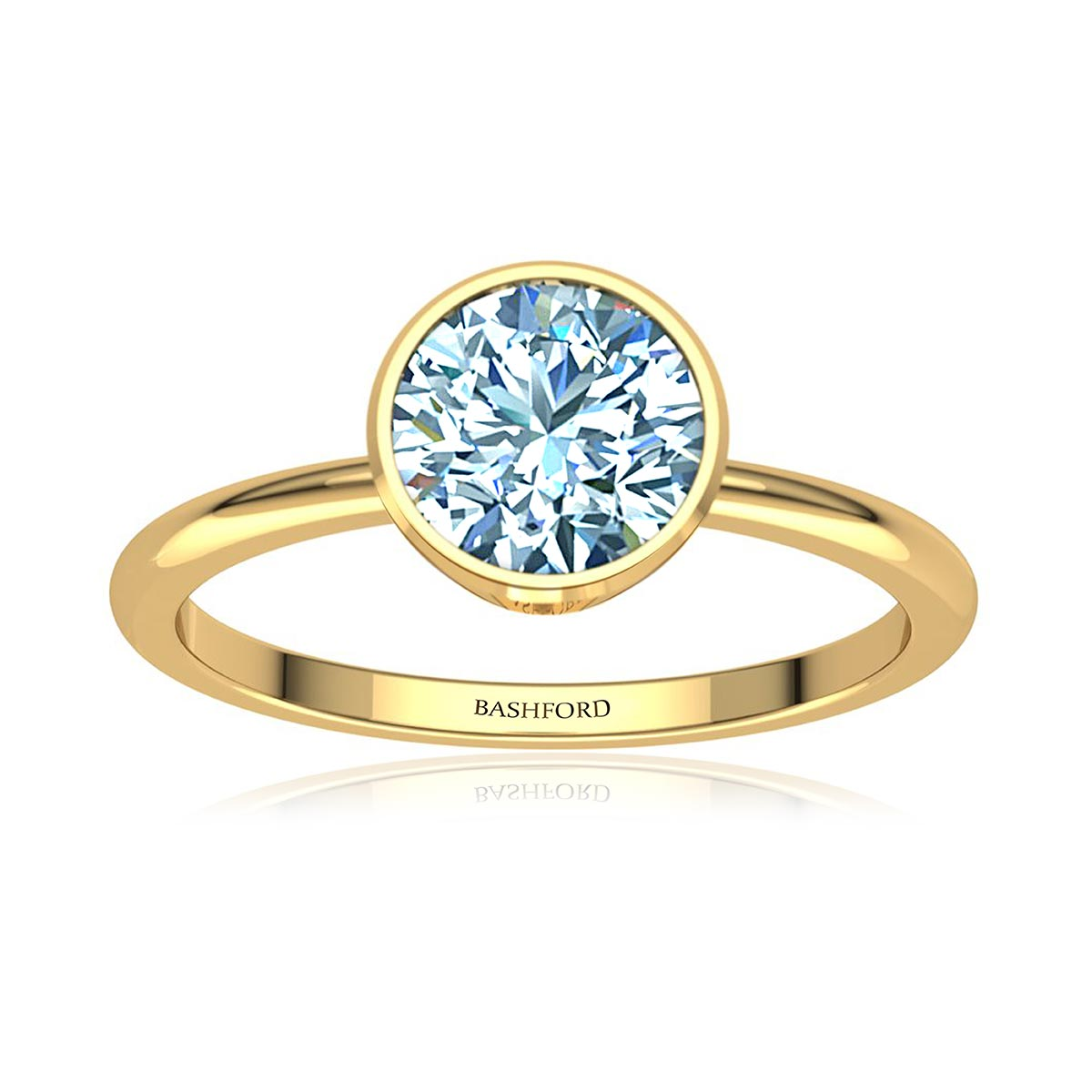 Electra Moissanite Ring (with 1 Carat Round Forever One)