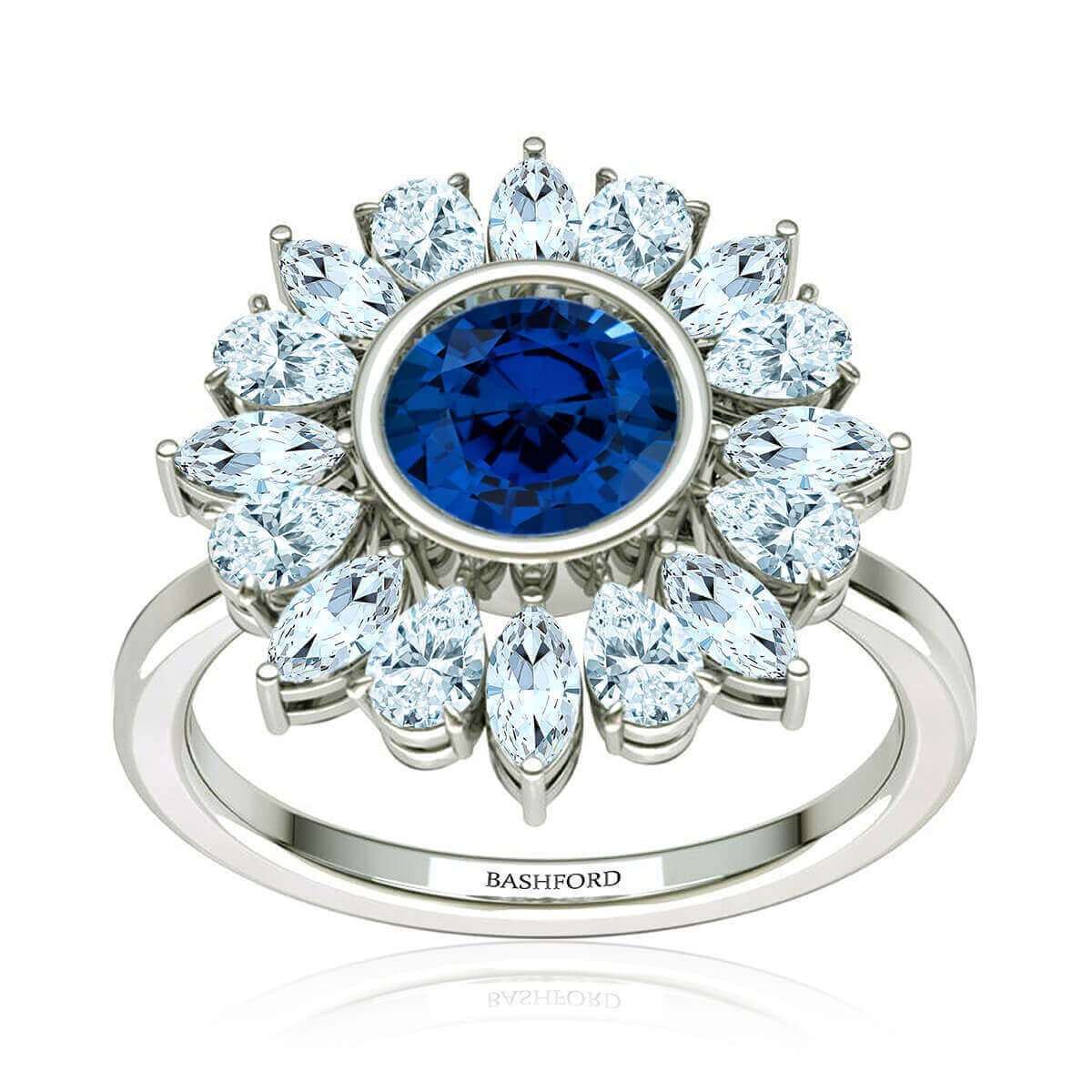 Rosabela Sapphire and Diamond Ring (7/8 CT. TW.)