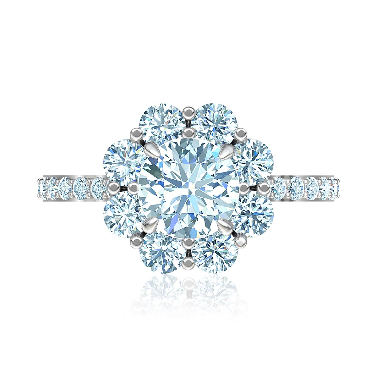 Portofino Halo Diamond Ring