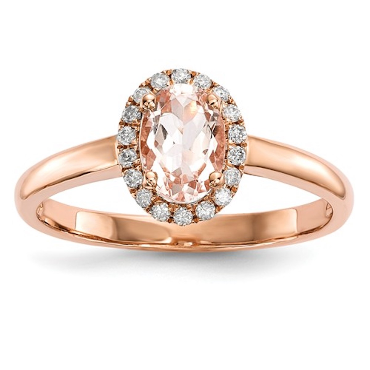 Lora Morganite And Diamond Ring