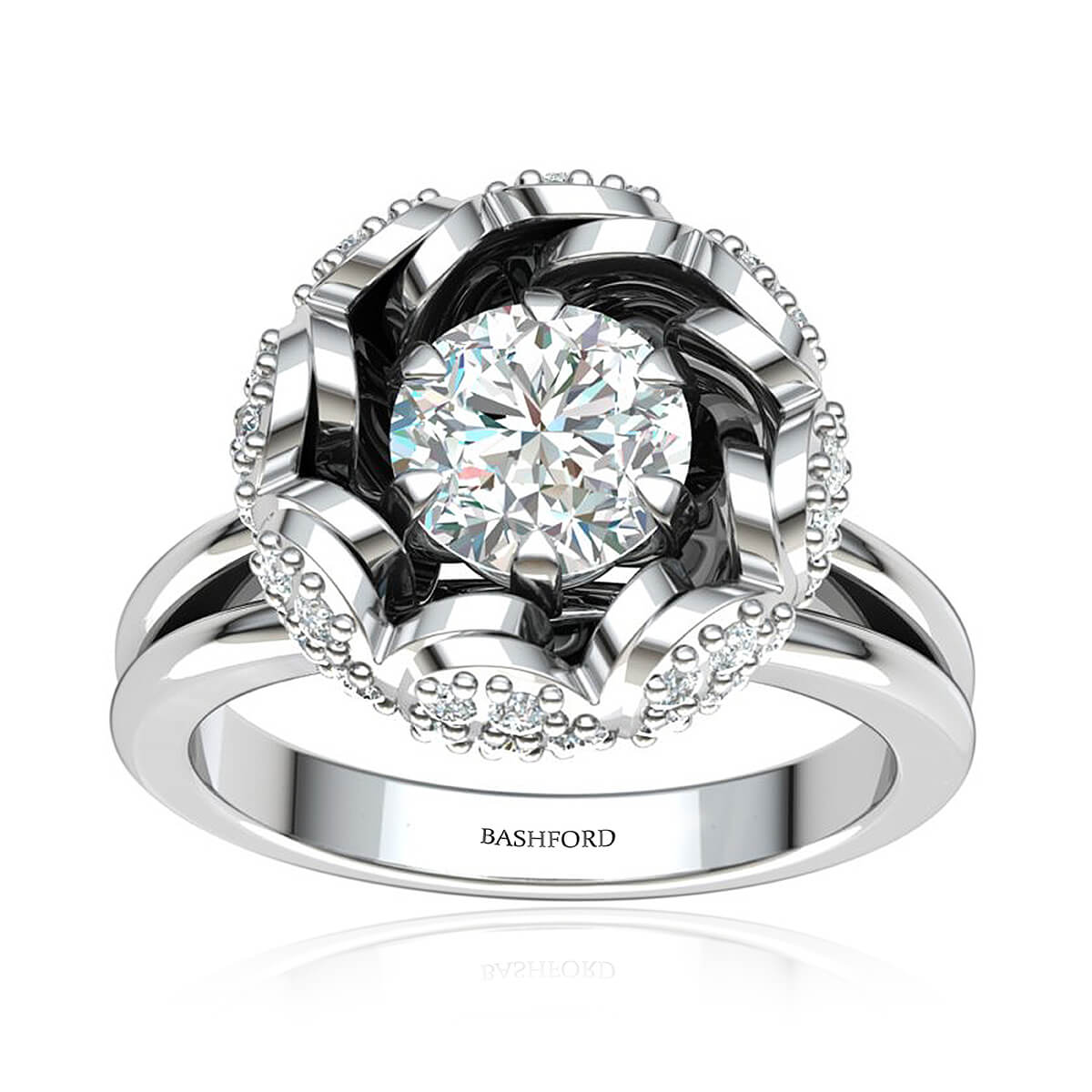 The Camellia Diamond Ring