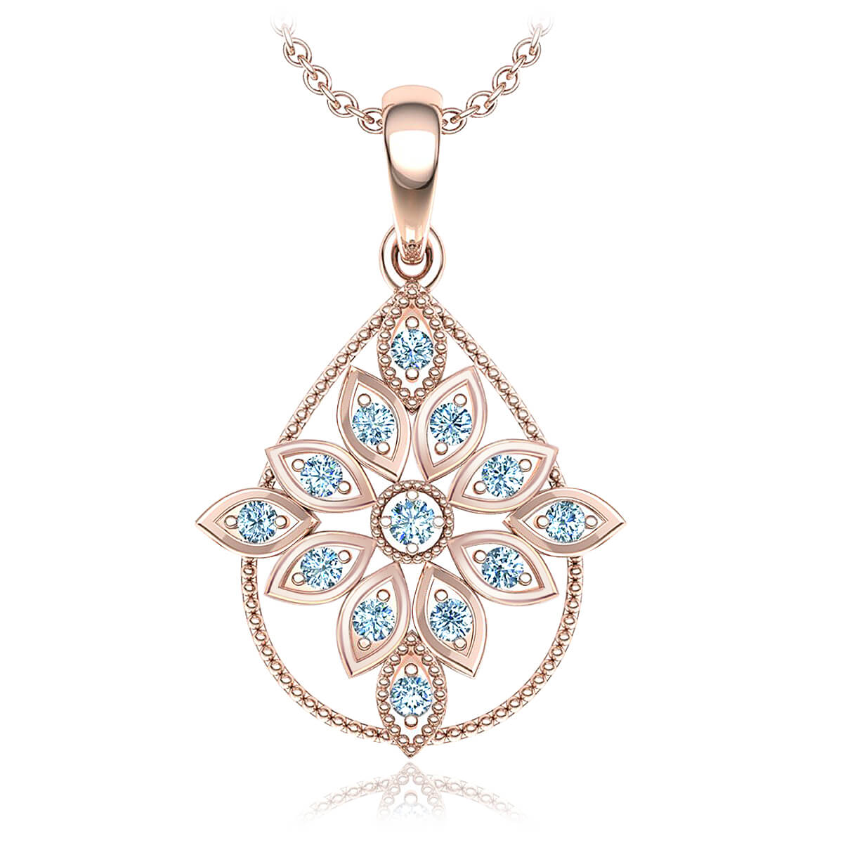 Gatsby Diamond Necklace (1/6 CT. TW.)
