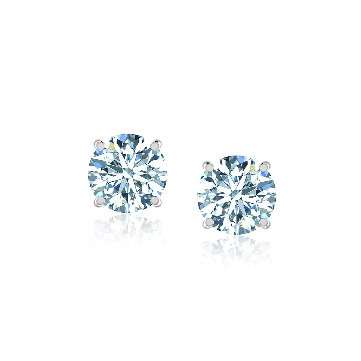 Camelopardalis Diamond Earrings  (2 CT. TW.)