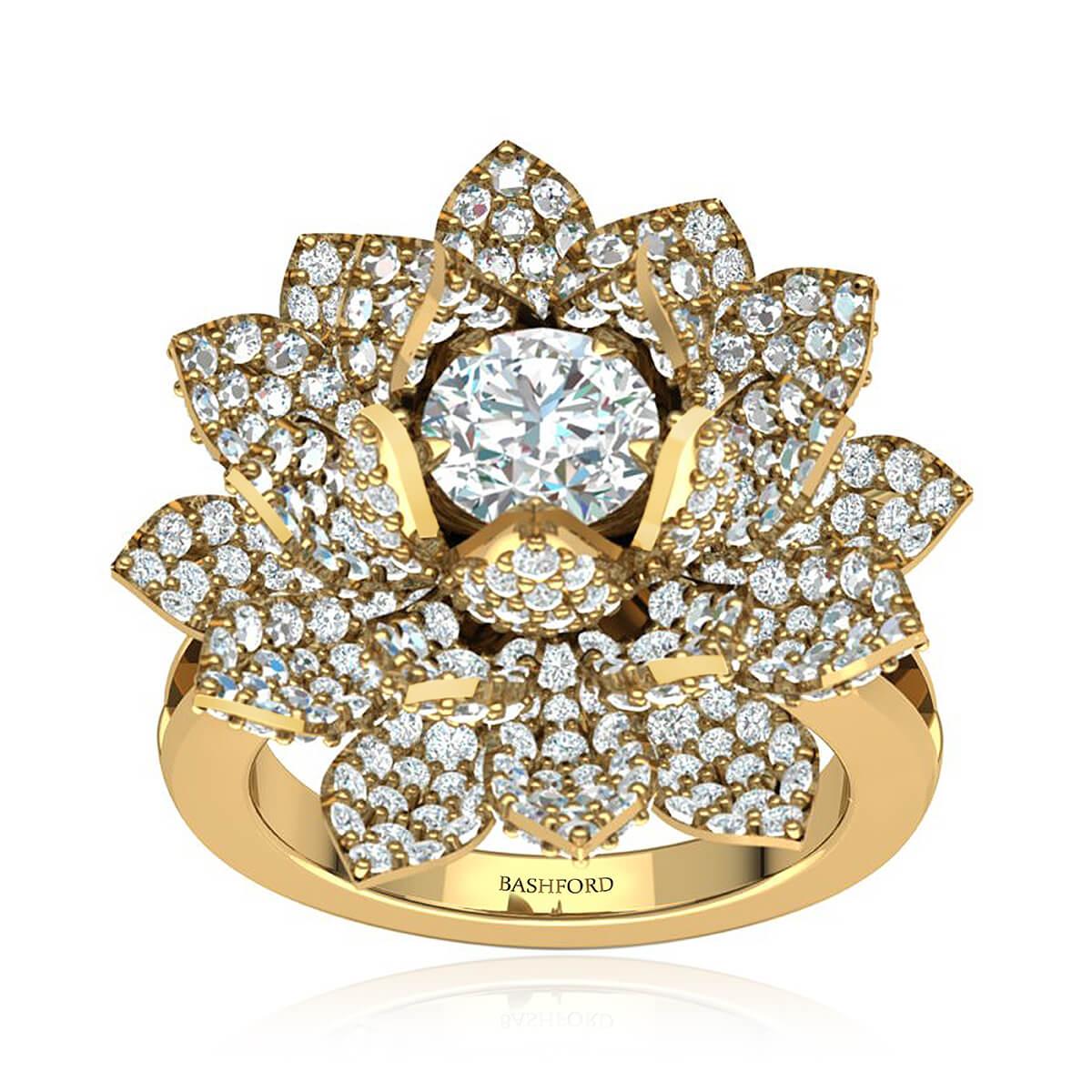The Lotus Diamond Ring