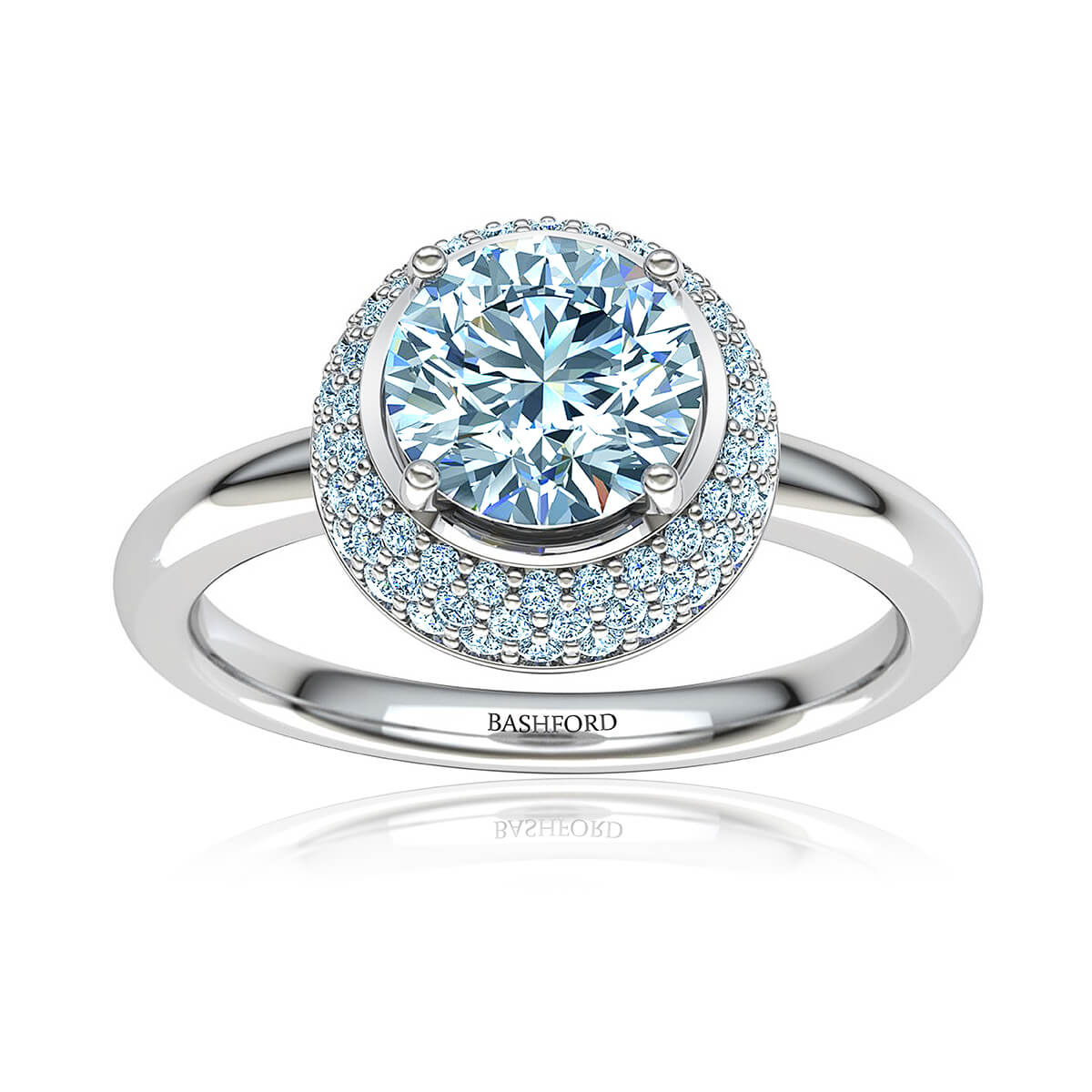 Susara Moissanite Ring (WITH 2 CARAT ROUND FOREVER ONE)