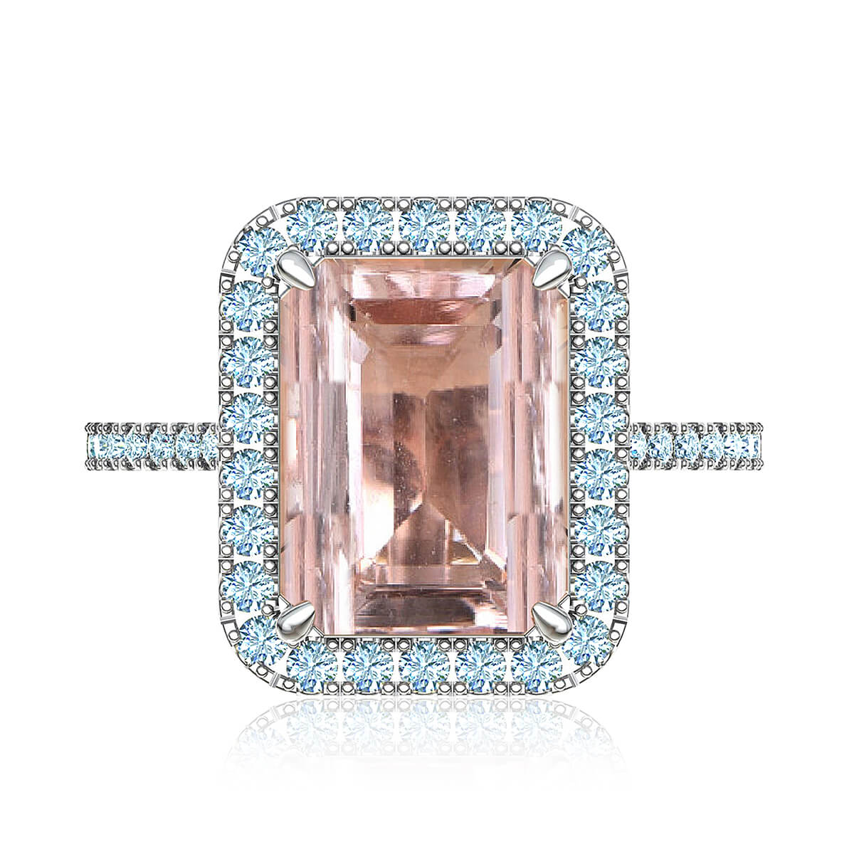 Elladora Morganite & Diamond Ring
