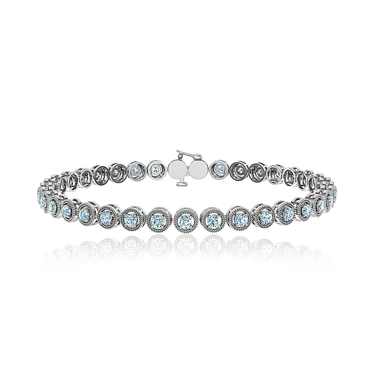 Fleur Diamond Milgrain Tennis Bracelet (1 CT. TW.)