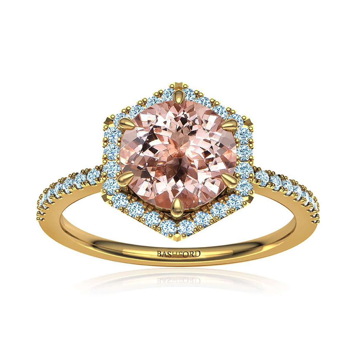 Adarna Morganite Ring (with 1 Carat Round Morganite)