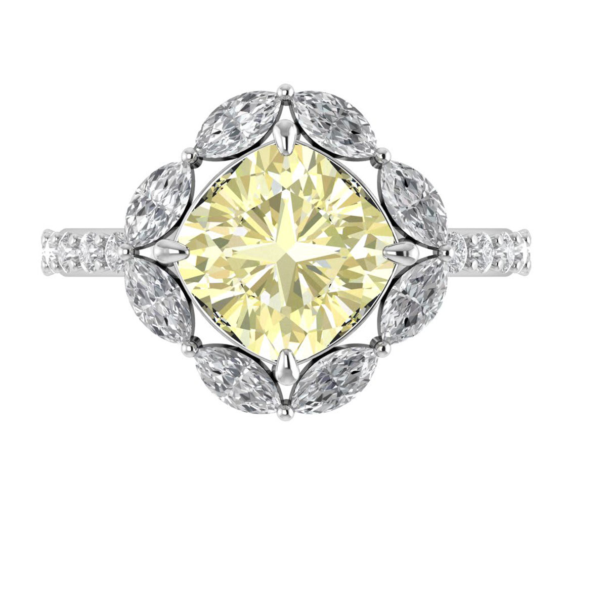 Amore Yellow Moissanite Ring