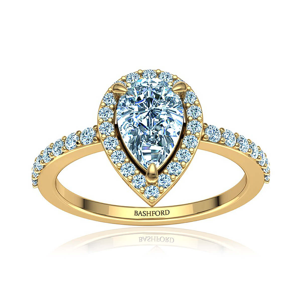 Abirose Diamond Ring (with SI1, F,  3/4 Carat Pear Diamond)