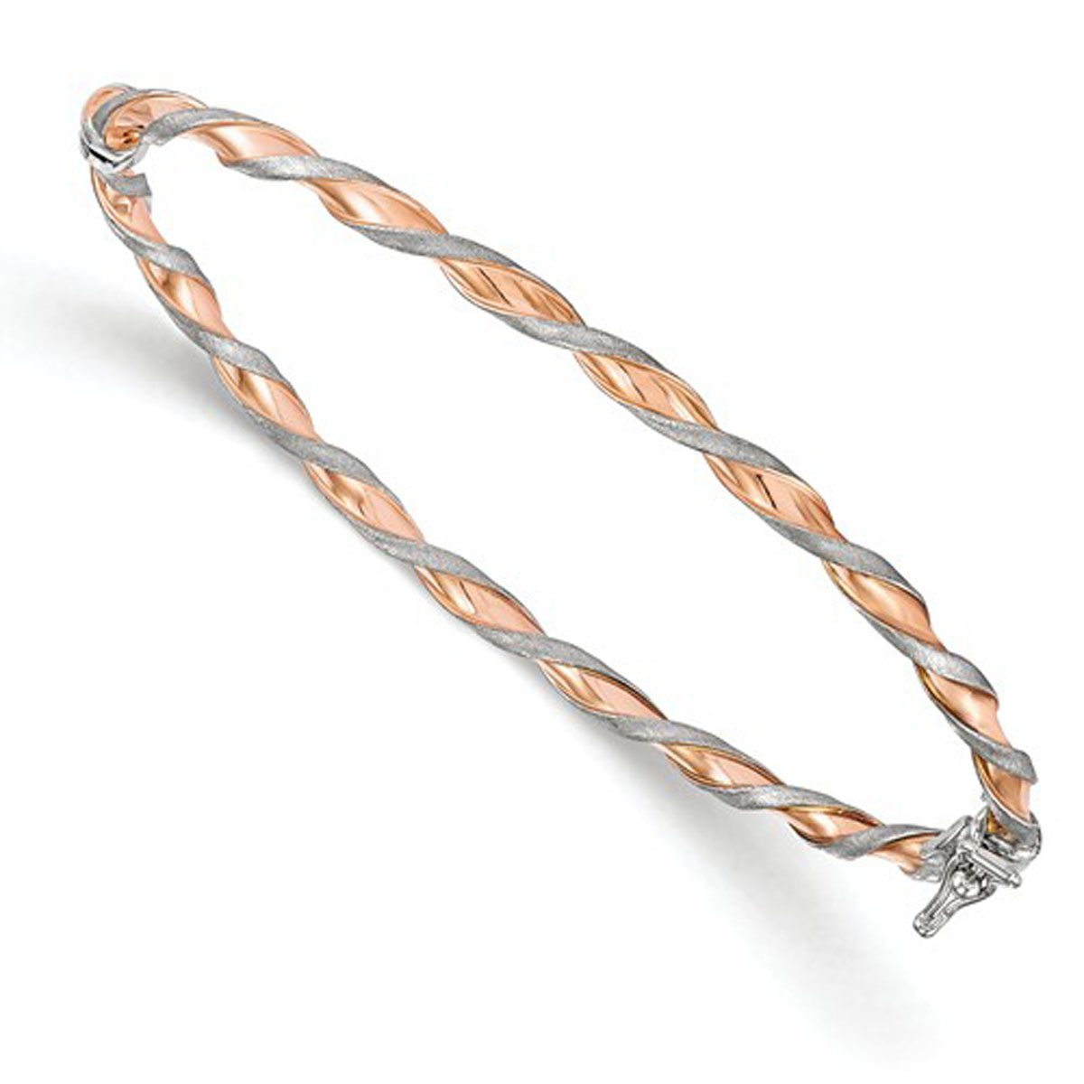 Two Tone Twisted Bangle