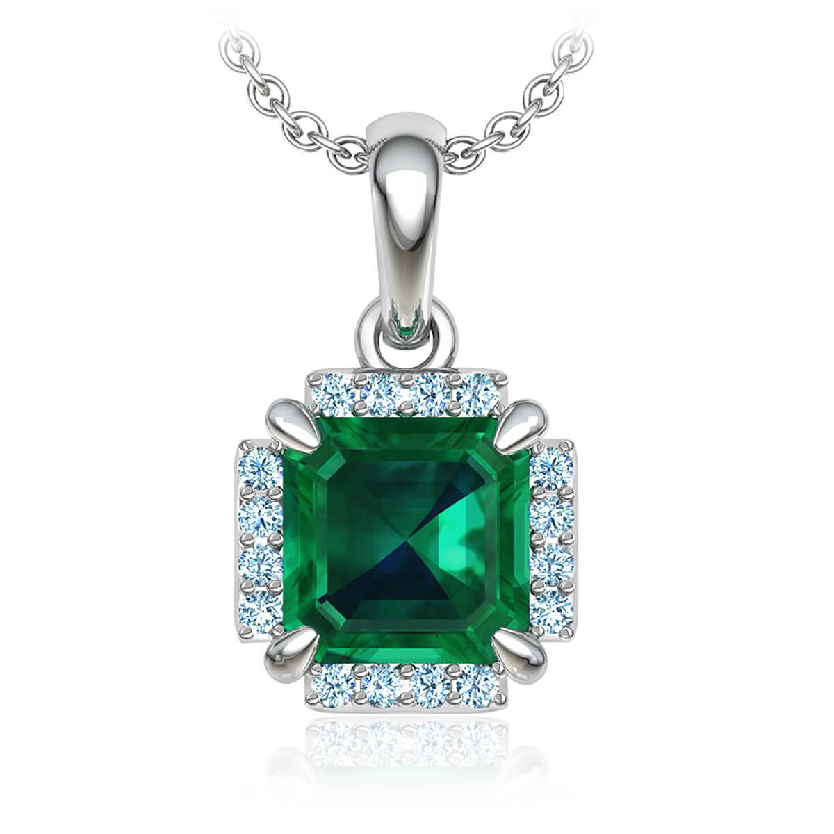 Ambrosina Emerald and Diamond Necklace