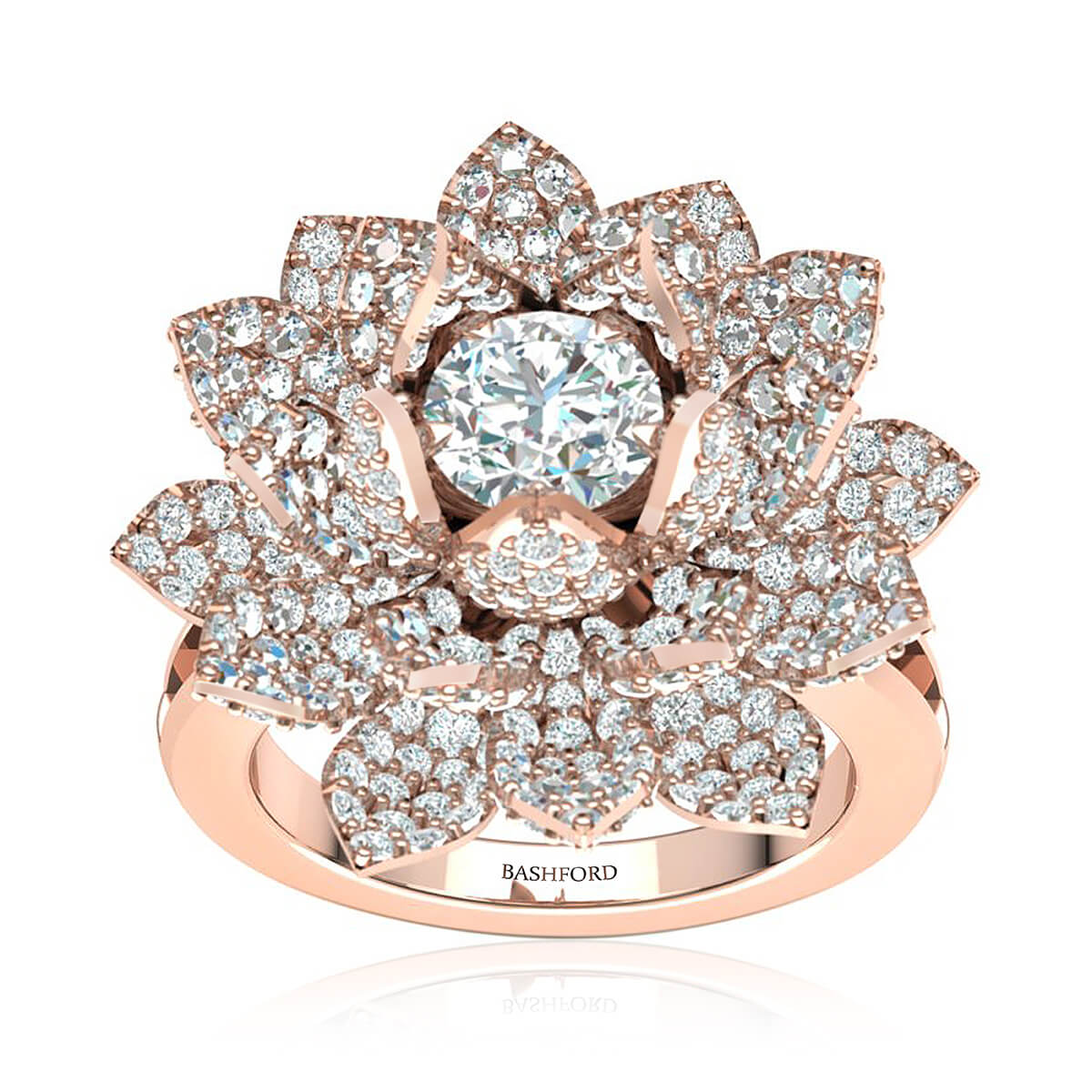 The Lotus Diamond Ring