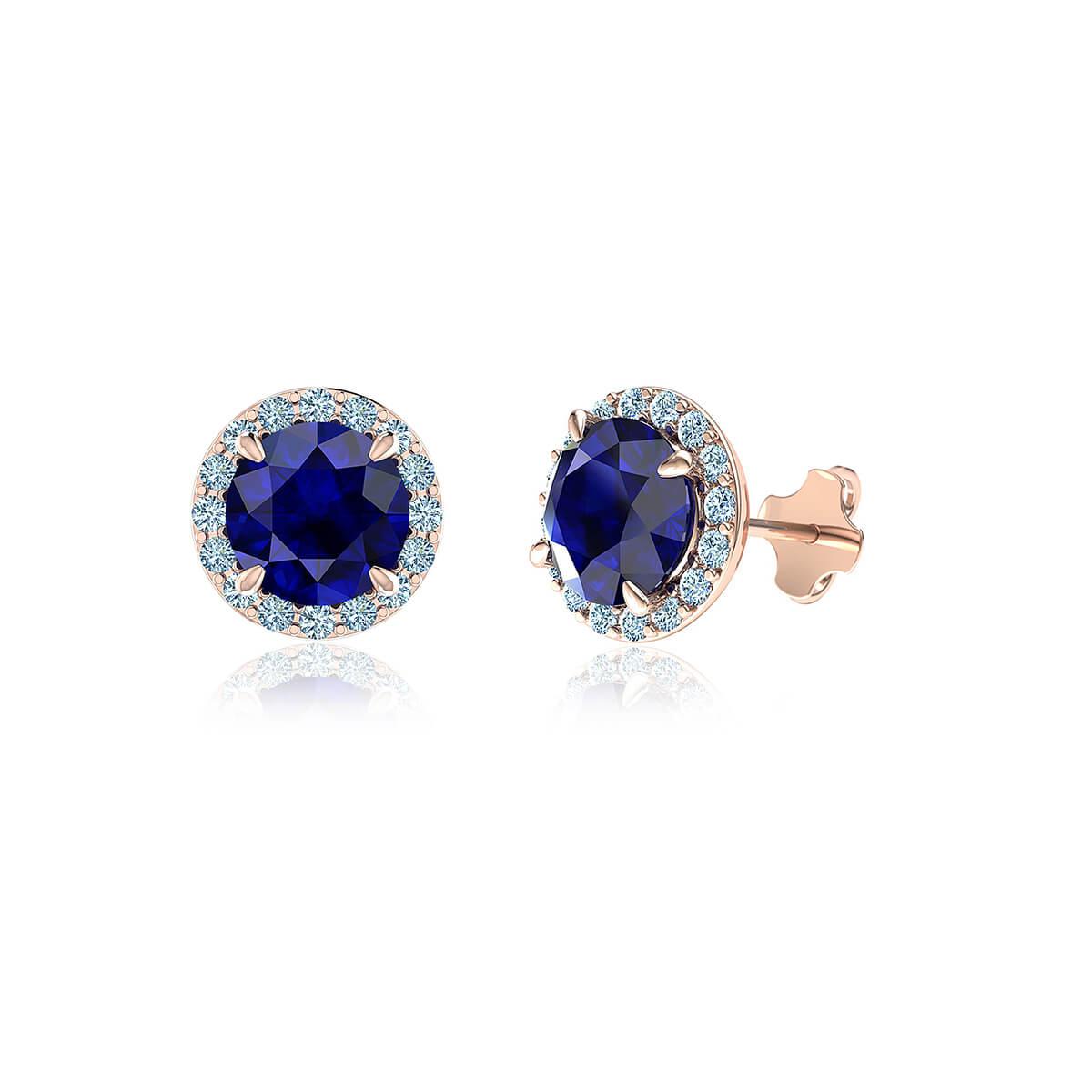 Thalassa Sapphire Halo Diamond Earrings