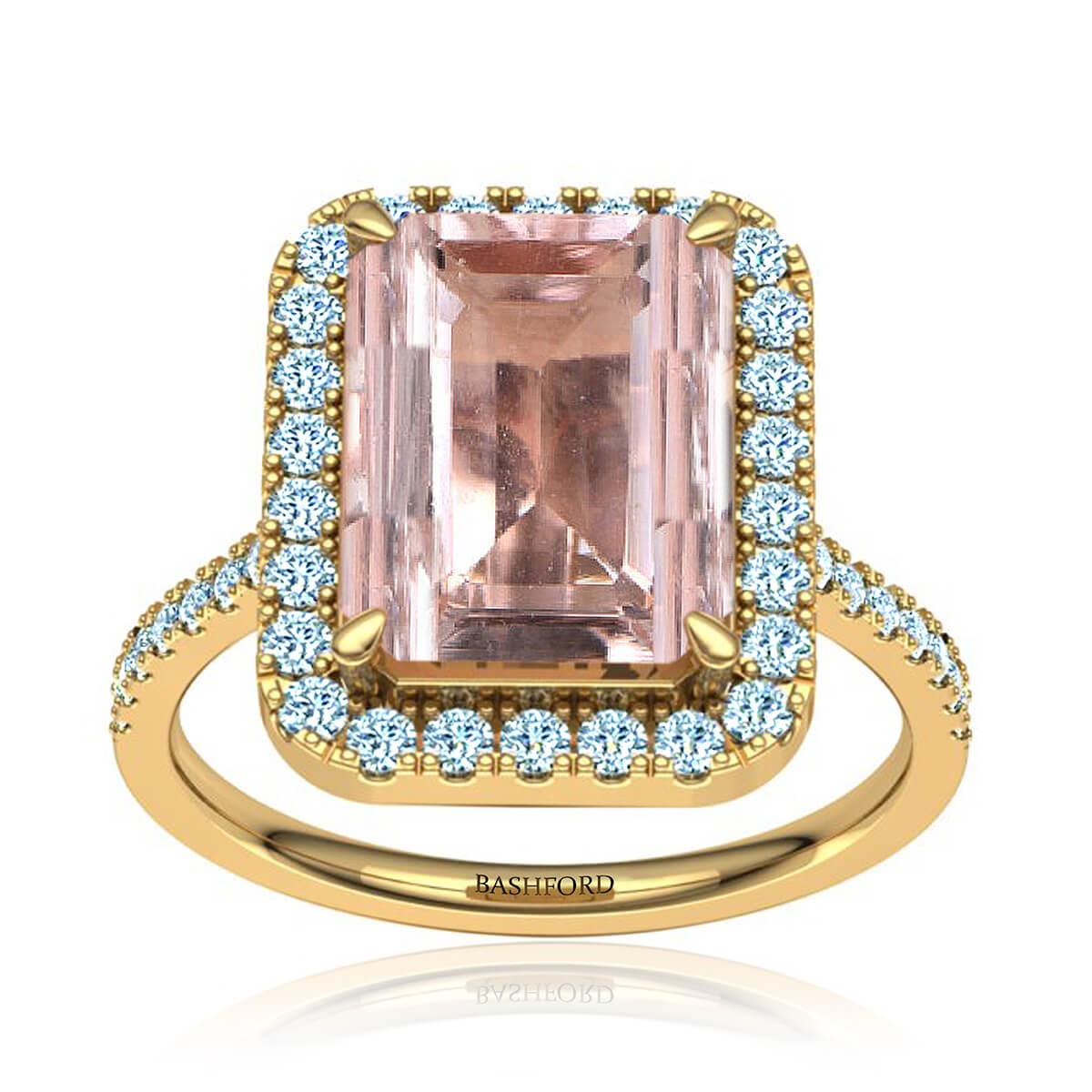 Elladora Morganite Ring (with 2 1/4 Carat Emerald Morganite)