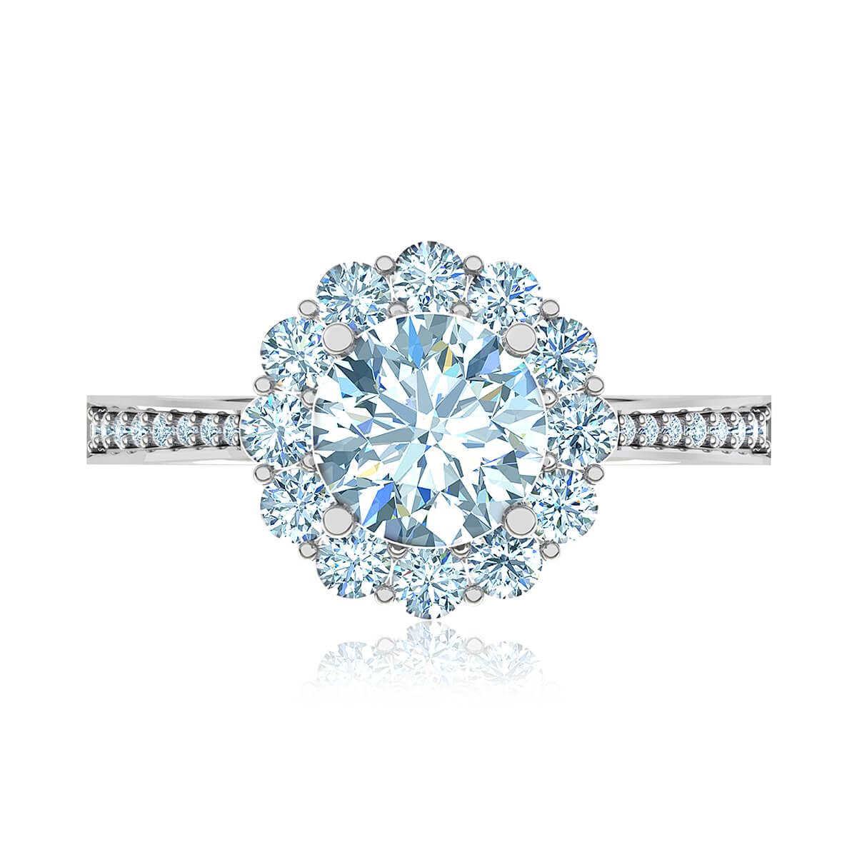 Fleur Blossom Moissanite Ring