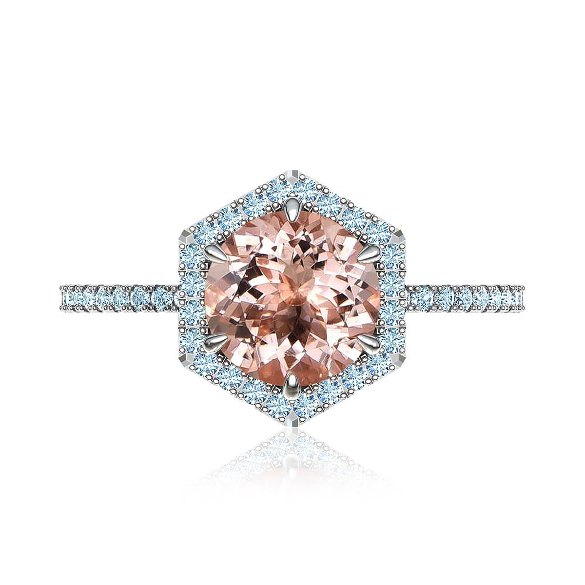 Adarna Morganite & Diamond Ring