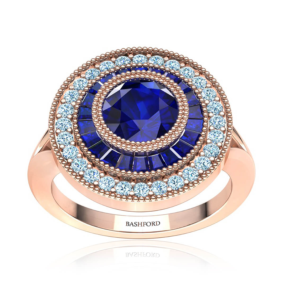 Ingrid Sapphire Ring (with 6MM Round Blue Sapphire)