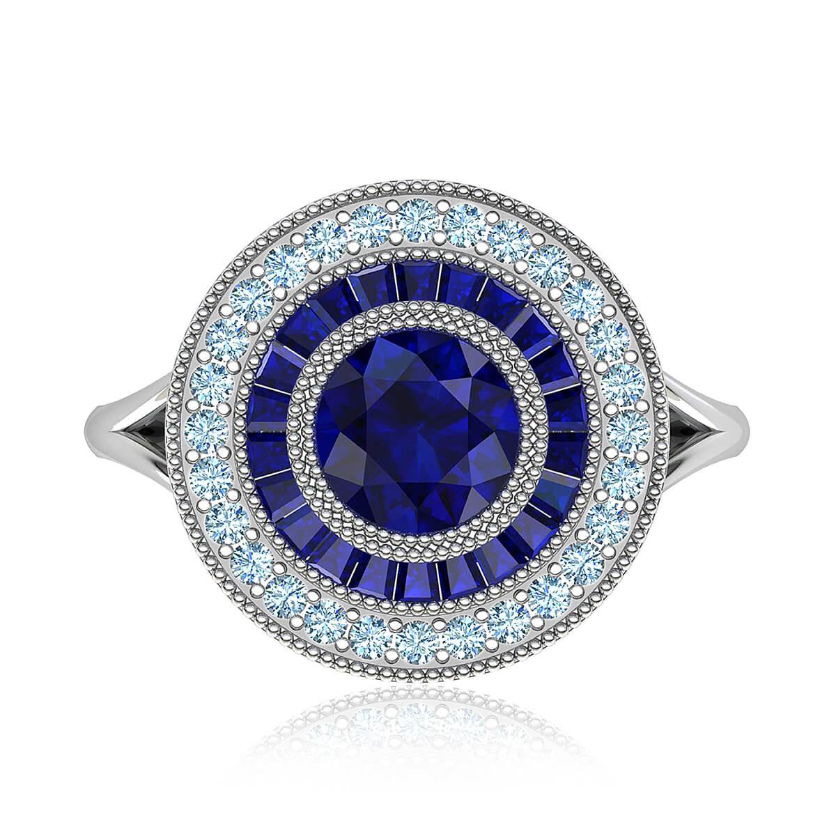 Ingrid Sapphire & Diamond Ring
