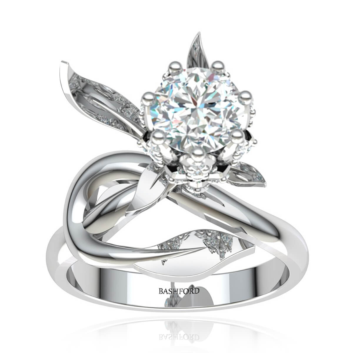 The Iris Diamond Ring