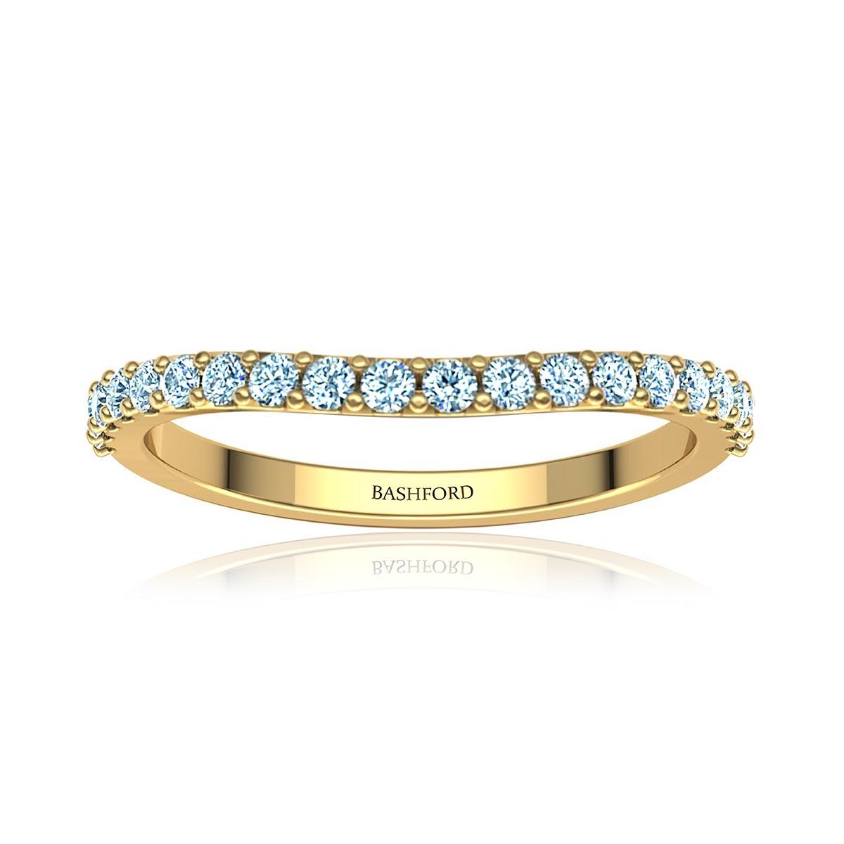 Classic Contoured Diamond Ring