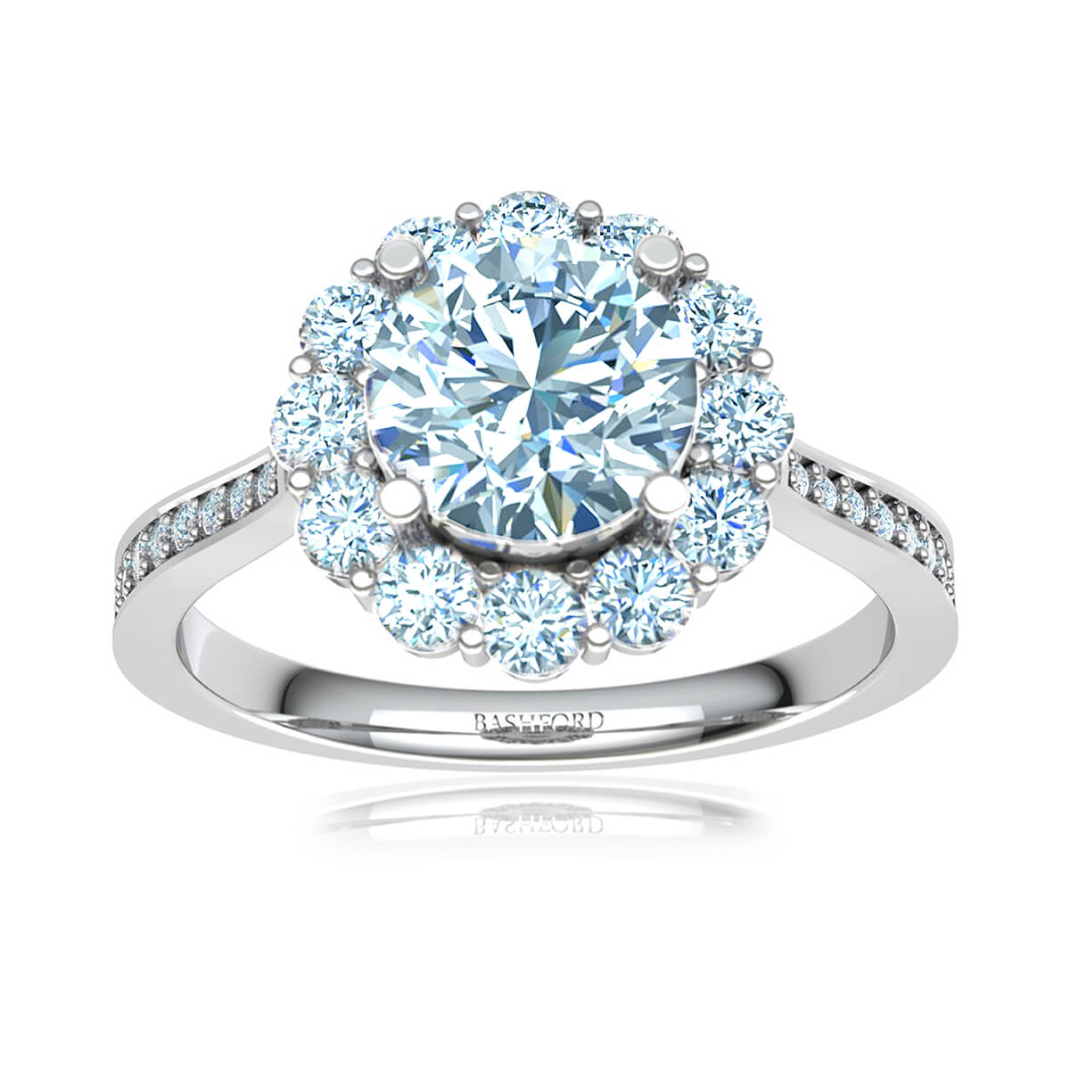 La Pelosa Halo Diamond Ring