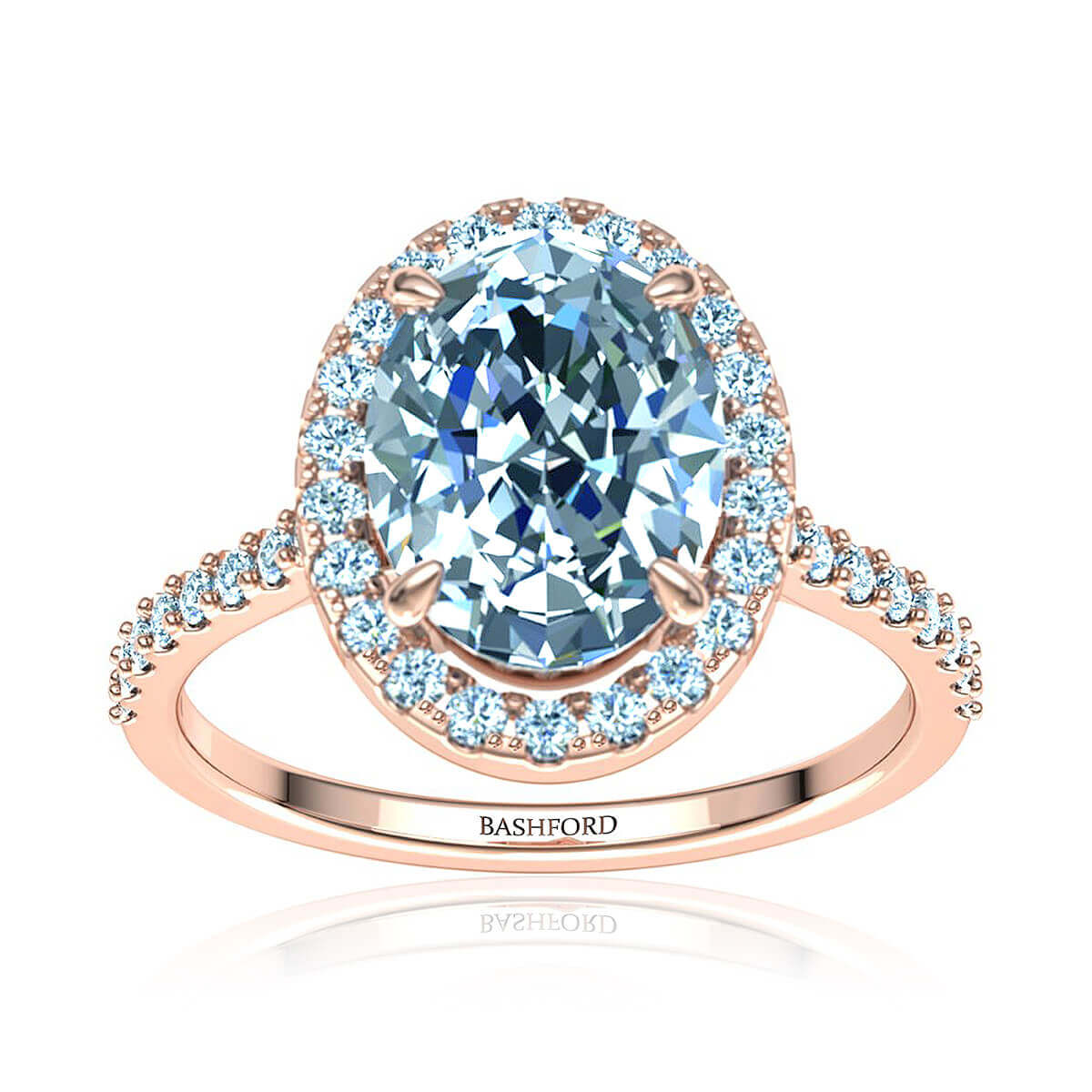 Solana Diamond Ring (with VS2, F, 7/8 Carat Oval Diamond)