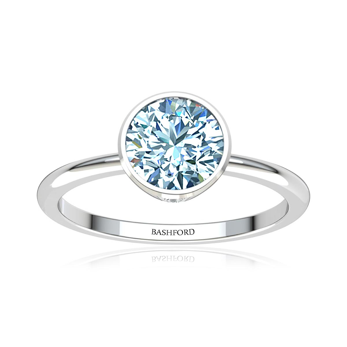 Electra Diamond Ring (with VS2, F,  1 Carat Round Diamond)