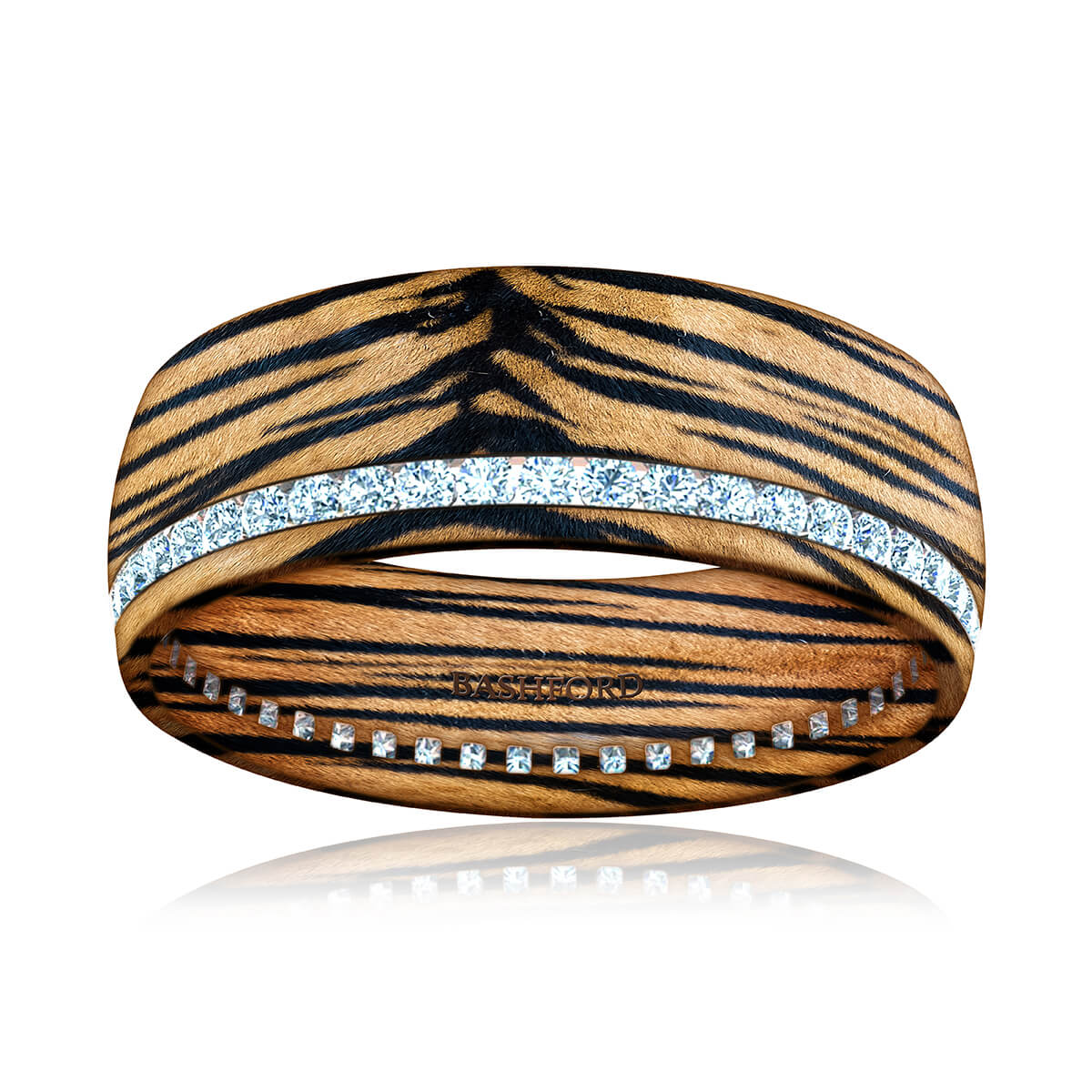 Panthera Mokume Diamond Band (1/2 CT. TW.)