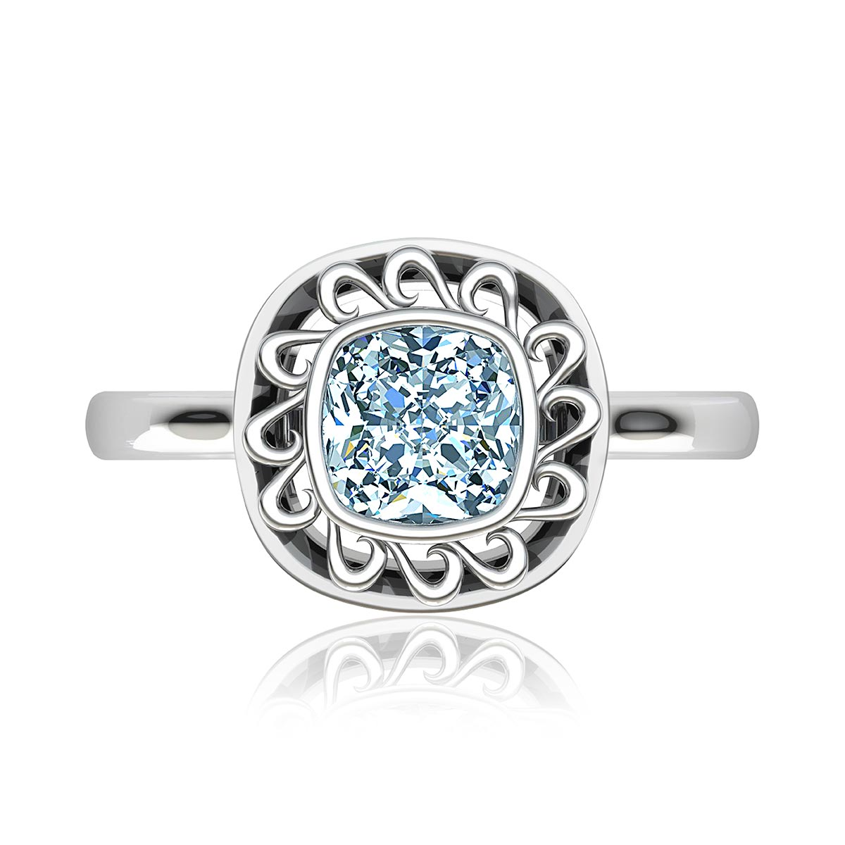 Asterion Moissanite Ring