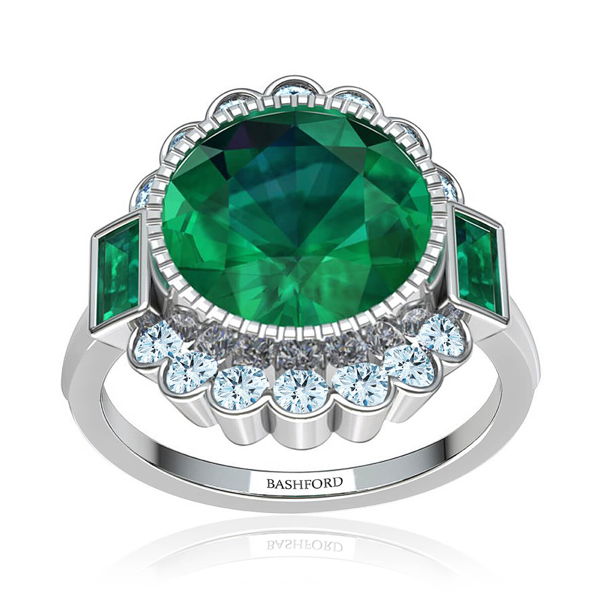 Milagrosa Emerald Ring  (with 1 Carat Round Emerald)