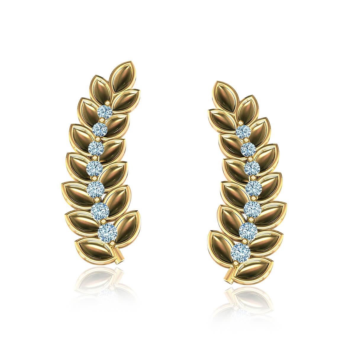 Seedra Goddess Diamond Earrings (1/2 CT. TW.)