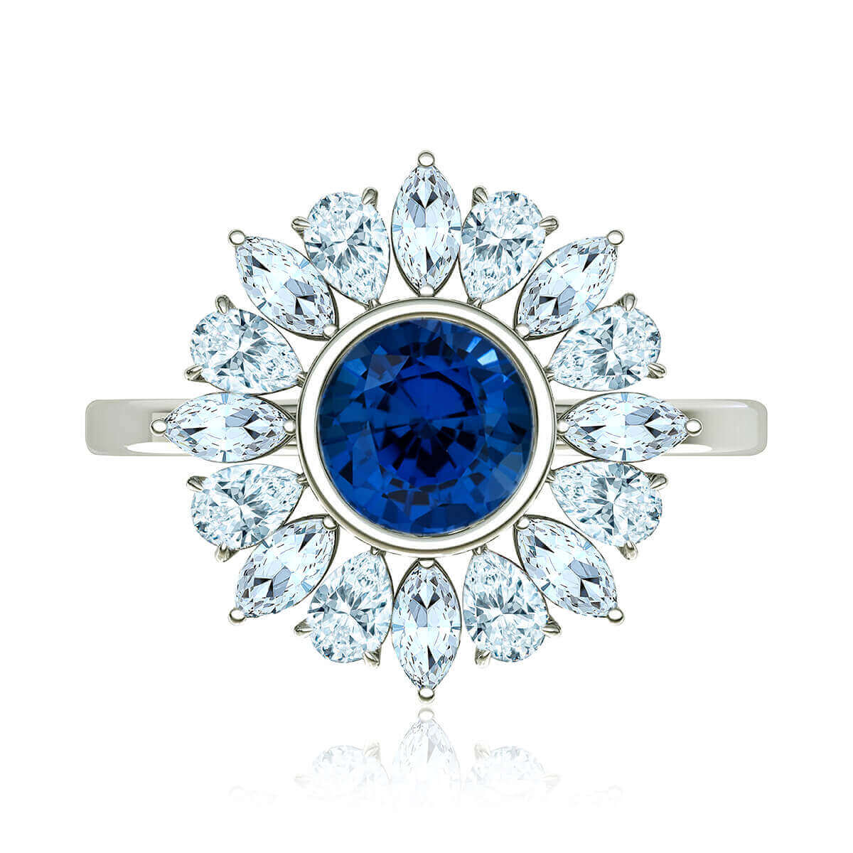 Rosabela Sapphire and Diamond Ring